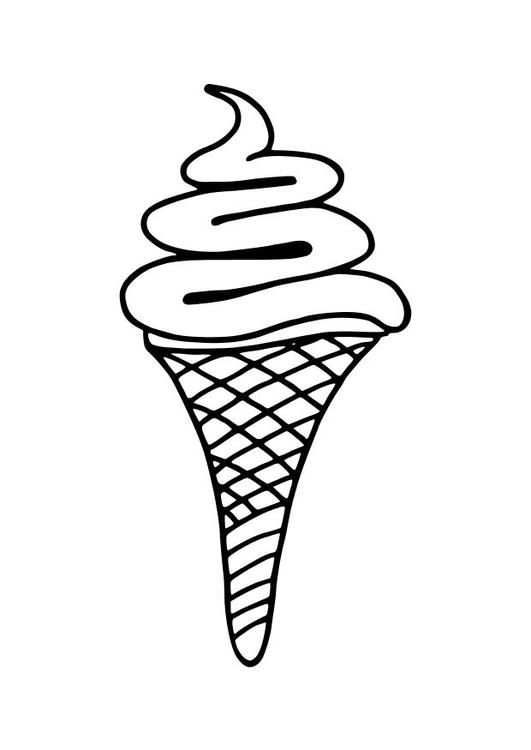 Malvorlage Eiscreme Ausmalbild 10236