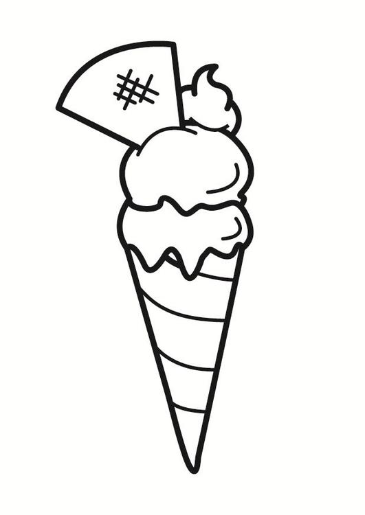 Malvorlage Eiscreme Ausmalbild 23325