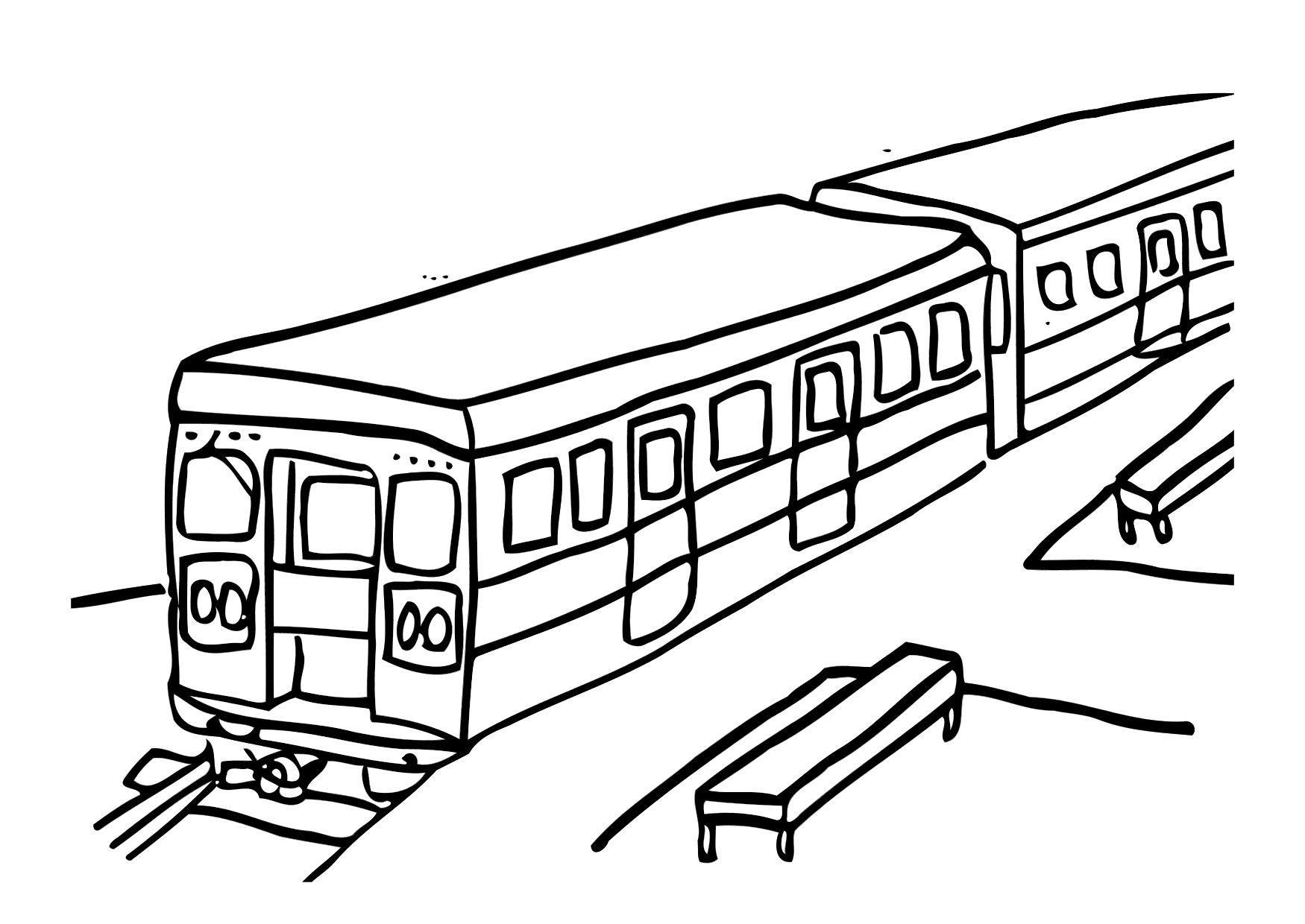 Malvorlage Eisenbahn | Ausmalbild 12303.