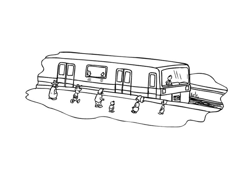 malvorlage eisenbahn   ausmalbild 9671.