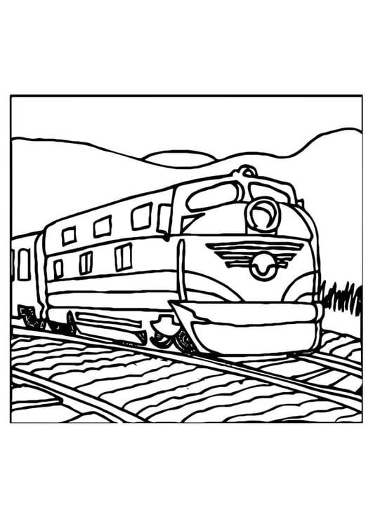Malvorlage Eisenbahn Ausmalbild 10975
