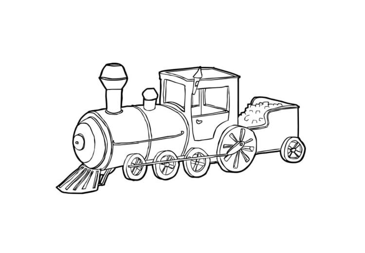 Malvorlage Eisenbahn Ausmalbild 13906
