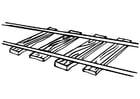 Malvorlage  Eisenbahnschienen