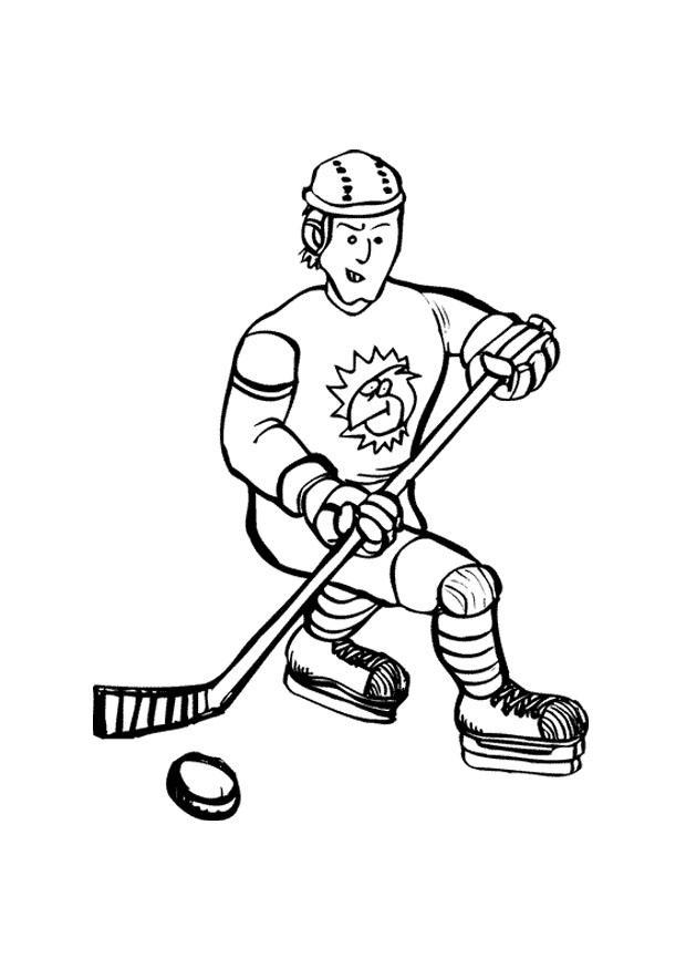 Malvorlage Eishockey   Ausmalbild 10127.