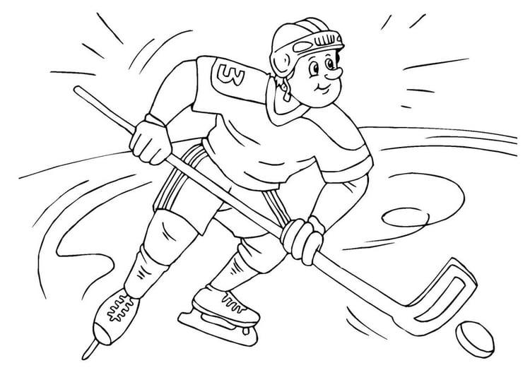 malvorlage eishockey  ausmalbild 25984