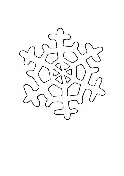 Malvorlage Eiskristall Ausmalbild 12558