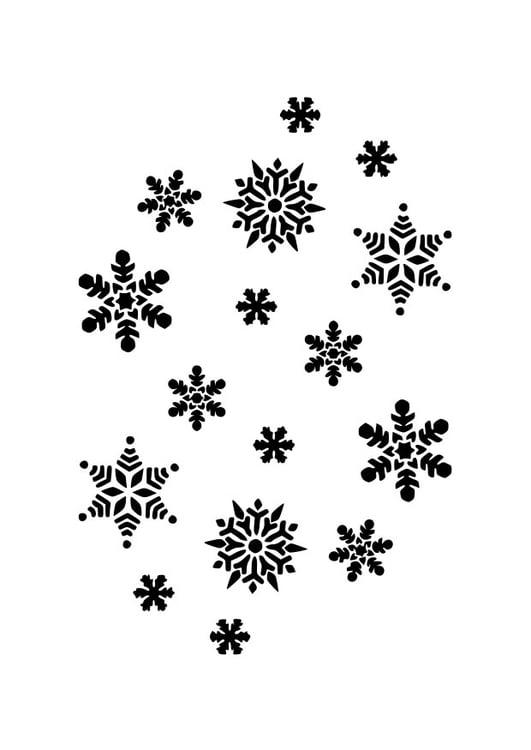 Malvorlage Eiskristalle Ausmalbild 22947