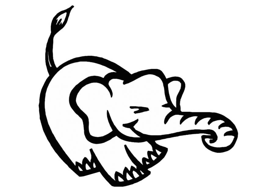 Malvorlage Elefant Ausmalbild 9318