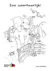 Malvorlage  Elefant im Zoo
