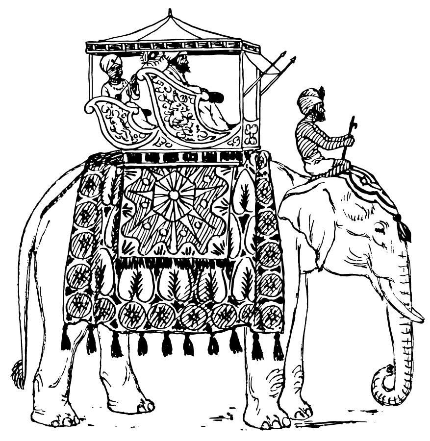 Malvorlage Elefant in Indien | Ausmalbild 16600.