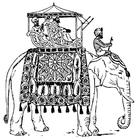 Malvorlage  Elefant in Indien