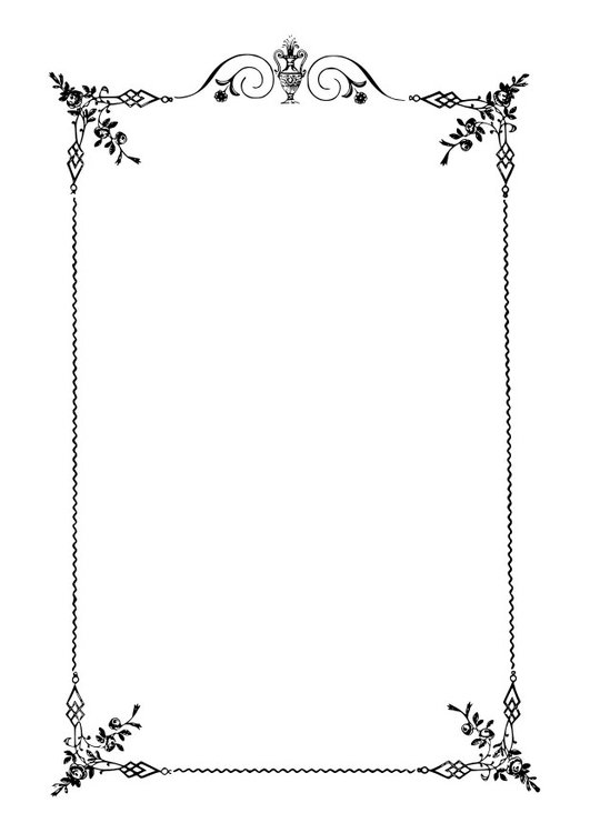 Malvorlage Eleganter Rahmen Ausmalbild 27915