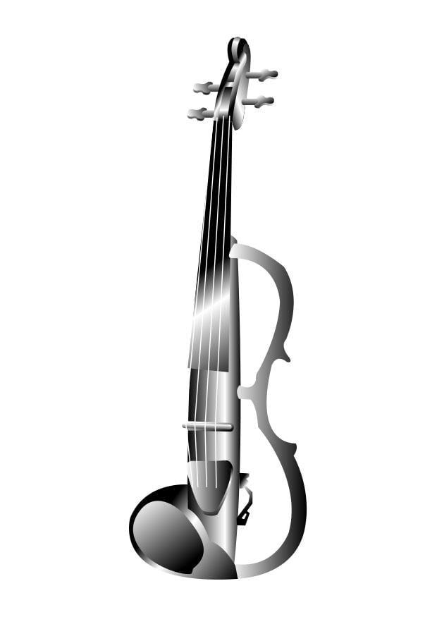 malvorlage elektrische violine  ausmalbild 26285
