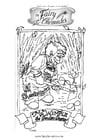 Malvorlage  Elfe im Garten