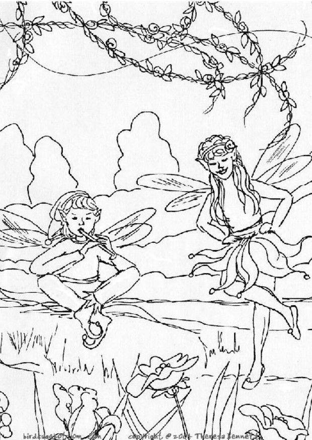 Malvorlage Elfen Ausmalbild 5759