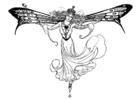 Malvorlage  Elfenkönigin
