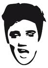 Malvorlage  Elvis Presley