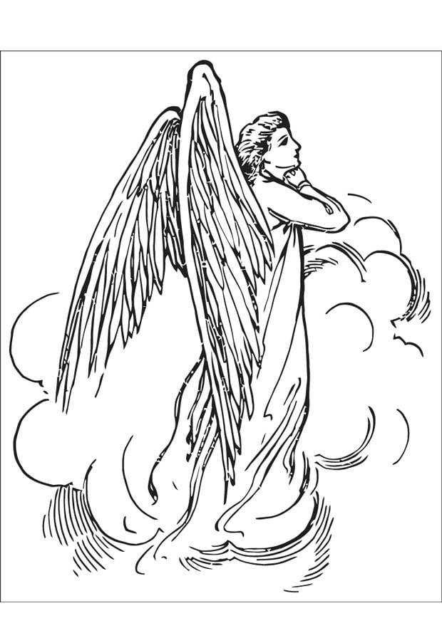 Malvorlage Engel | Ausmalbild 16595.