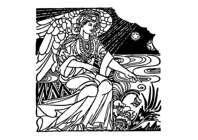 Malvorlage Engel | Ausmalbild 10546.