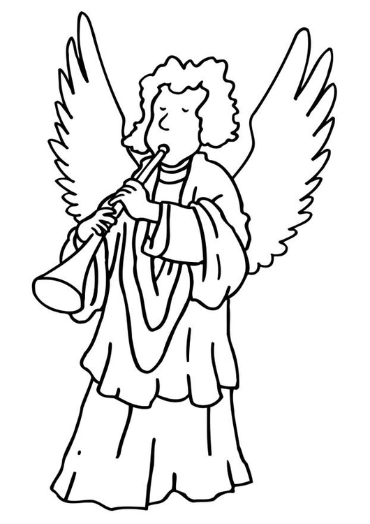 Malvorlage Engel Weihnachten | Ausmalbild 6492.