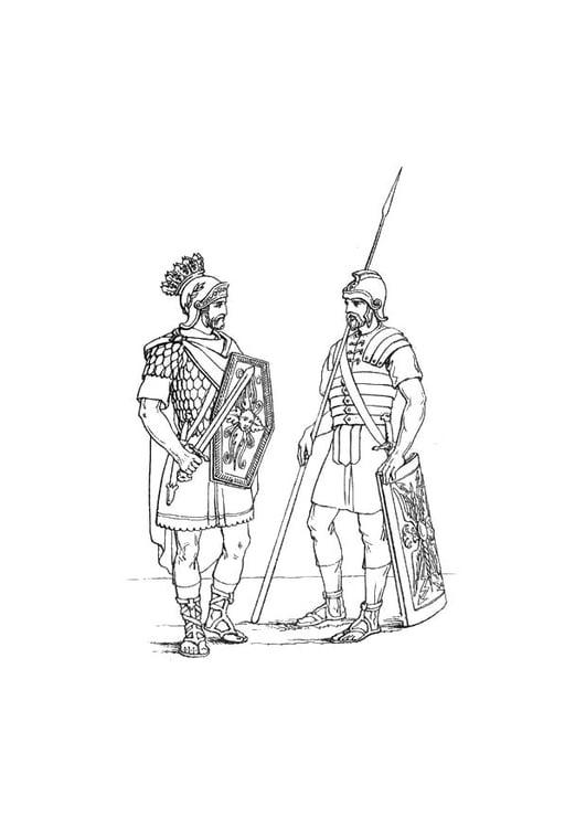 Malvorlage Englische Soldaten Im Romischen Heer Kostenlose