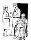 Malvorlage  Entlassung aus dem Krankenhaus