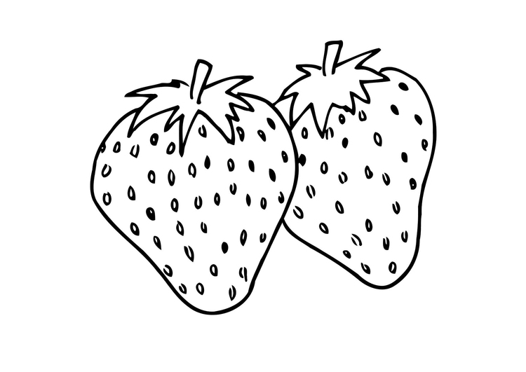 Malvorlage Erdbeere Ausmalbild 12302