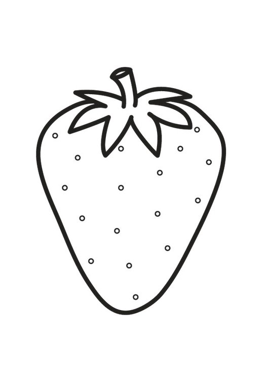 Malvorlage Erdbeere Ausmalbild 23174