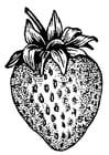 Malvorlage  Erdbeere