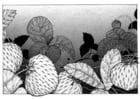 Malvorlage  Erdbeeren