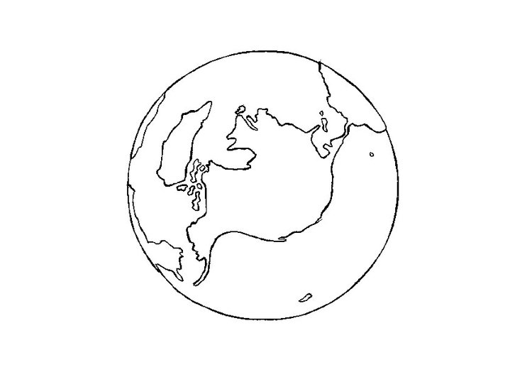Malvorlage Erde | Ausmalbild 9712.