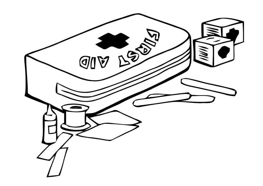 malvorlage erste hilfe set ausmalbild 22791. Black Bedroom Furniture Sets. Home Design Ideas