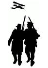 Malvorlage  Erster Weltkrieg Silhouette