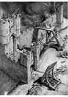 Malvorlage  Erstürmung einer Burg