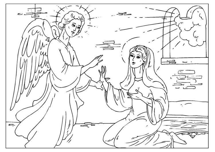 Malvorlage Erzengel Gabriel Ausmalbild 25927
