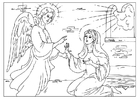 Malvorlage  Erzengel Gabriel