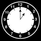 Malvorlage  es ist 1 Uhr