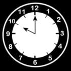 Malvorlage  es ist 10 Uhr