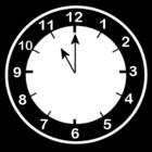 Malvorlage  es ist 11 Uhr