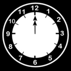 Malvorlage  es ist 12 Uhr