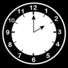 Malvorlage  es ist 2 Uhr