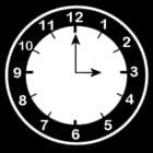 Malvorlage  es ist 3 Uhr