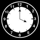 Malvorlage  es ist 4 Uhr