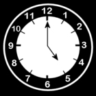 Malvorlage  es ist 5 Uhr