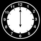 Malvorlage  es ist 6 Uhr