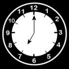 Malvorlage  es ist 7 Uhr