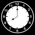 Malvorlage  es ist 8 Uhr