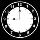 Malvorlage  es ist 9 Uhr