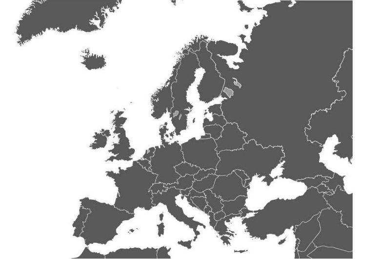 Malvorlage Europakarte | Ausmalbild 8299.