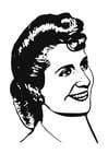 Malvorlage  Eva Perón